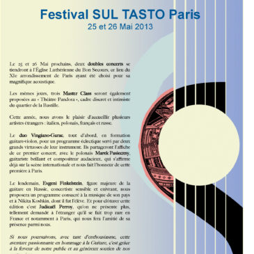 Festival sul tasto 2013